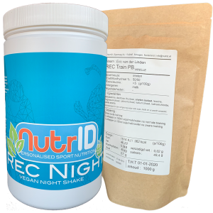 NutrID Rec Night plant based reovery shake for sleep