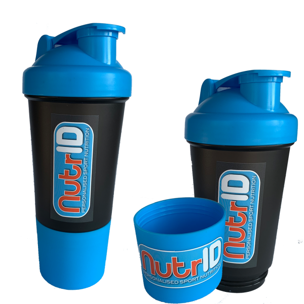 NutrID Protein shaker with powder compartment