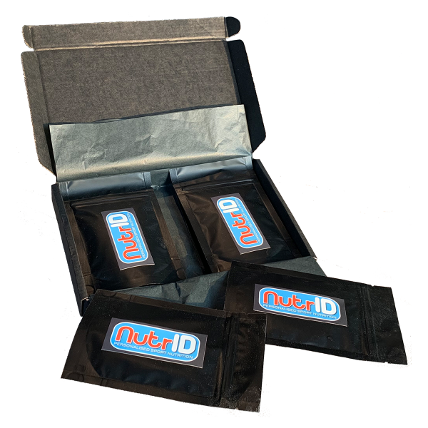 NutrID samples box - great fit for every triathlete or runner
