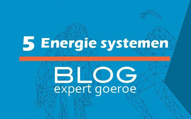 De vijf energiesystemen
